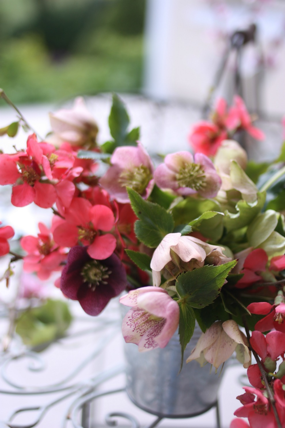 bouquet with hellebores