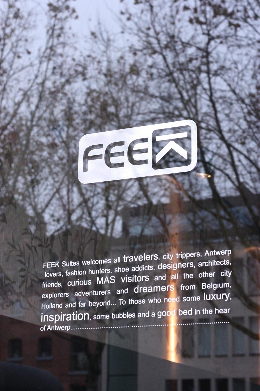 in front of Feek