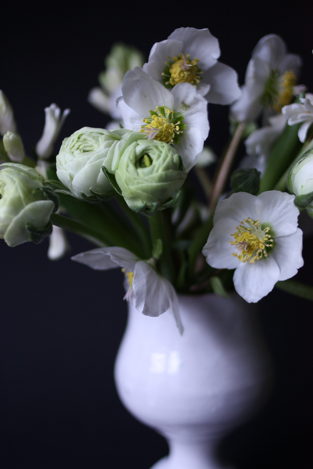 white flowers bouquet by madame love