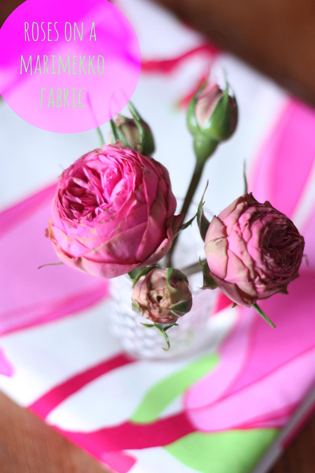 roses on a marimekko fabric