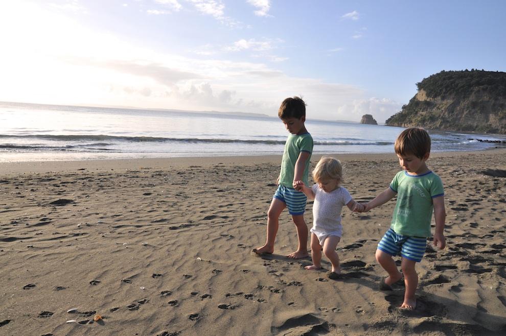 PJ walk on the beach