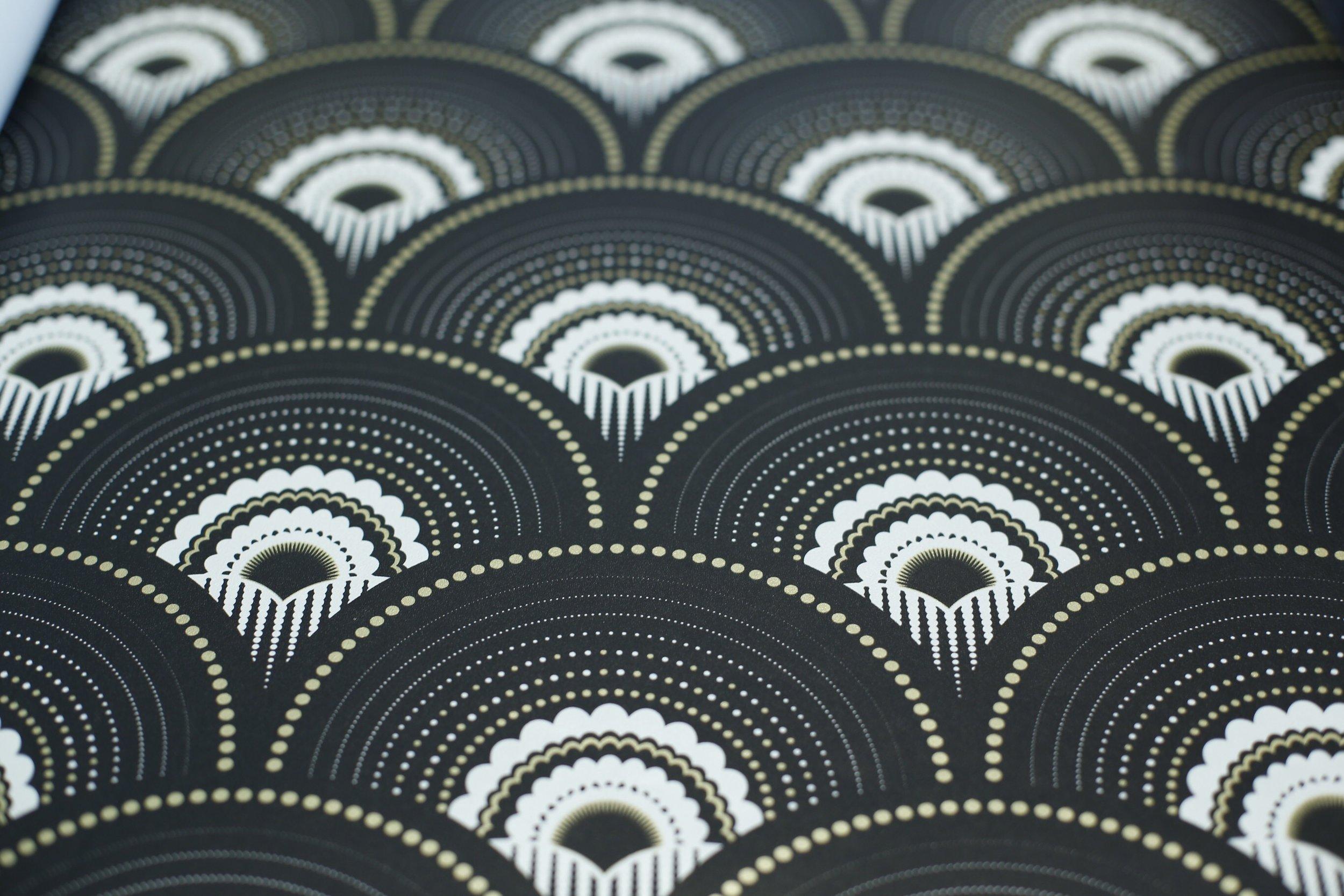 Han'i noir et doré - papier peint papermint 1925