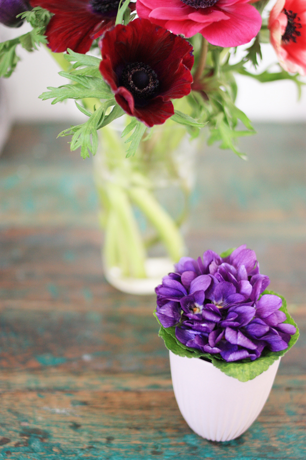 violettes and anemones