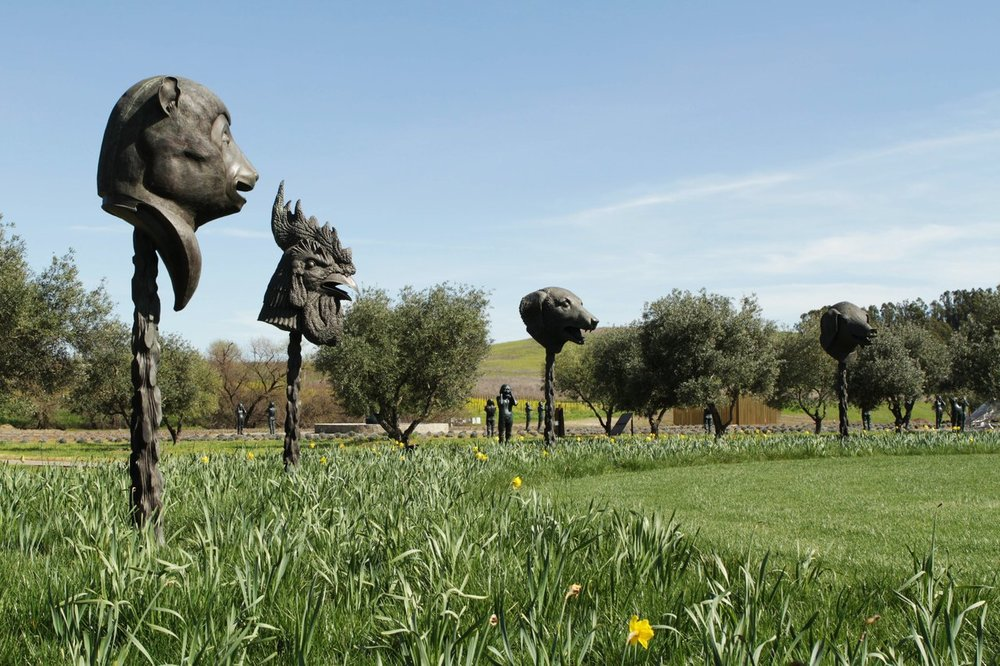 Circle of Animals / Zodiac Heads, Ai Weiwei, 2011. Courtesy of Donum Estate.