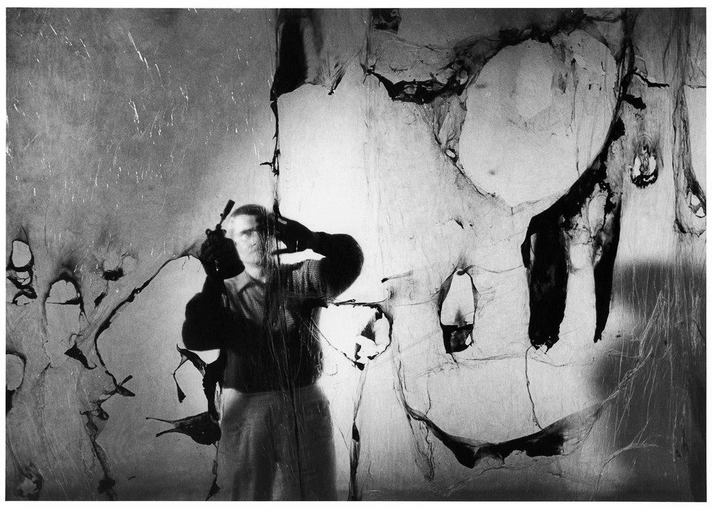 Alberto Burri, Grande Plastica, Grottarossa, 1962. Courtesy of Tornabuoni Art.