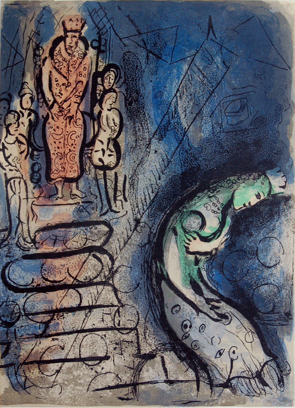 M Chagall | Ahasuerus Banishes Vashti | Lithograph, © 2018 Artists Rights Society (ARS), New York / ADAGP, Paris