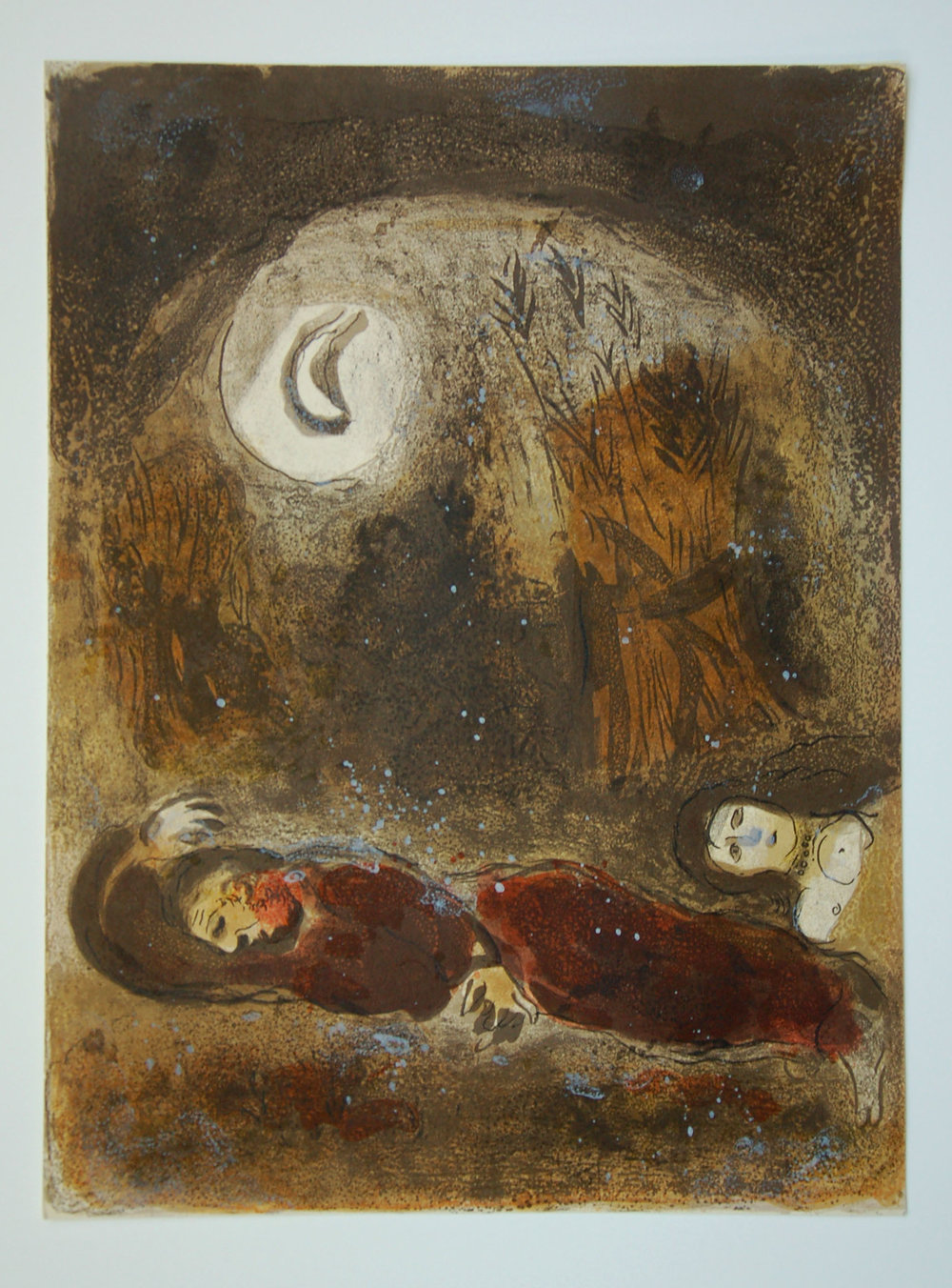 28. Chagall, Ruth at the feet of Boaz 1960 copy.JPG