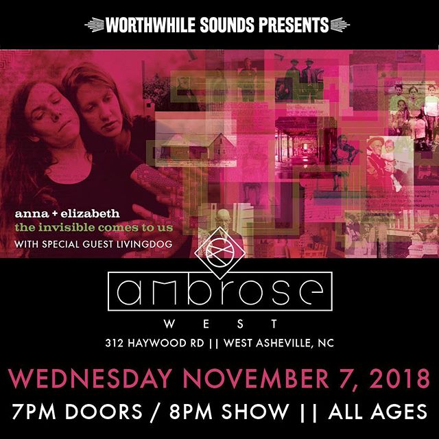 Tomorrow! @ambrosewestavl @livingdogsongs