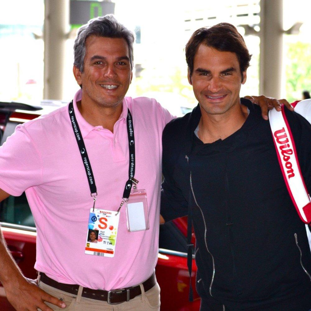 Karl Hale and Roger Federer