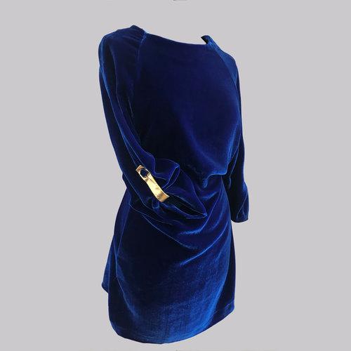 710a1ac2aee4 Vestito velluto blu Alice — ORO NOT