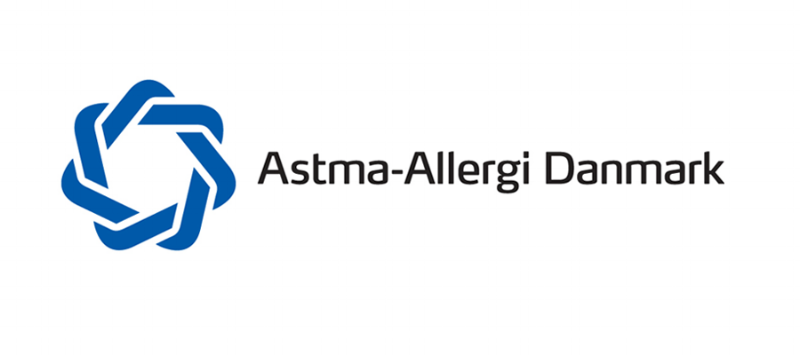 astma-allergi Danmark logo. the blue label (Den blå krans)