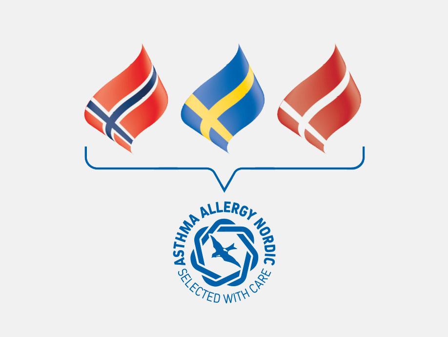 Astma- och Allergiförbundets märkning Svalan / Svalmärkningen går samman med Danske Astma-allergi Denmark Den blå krans och Norske Astma- og Allergiforbundets märkning och bildar tillsammans Asthma Allergy Nordic.