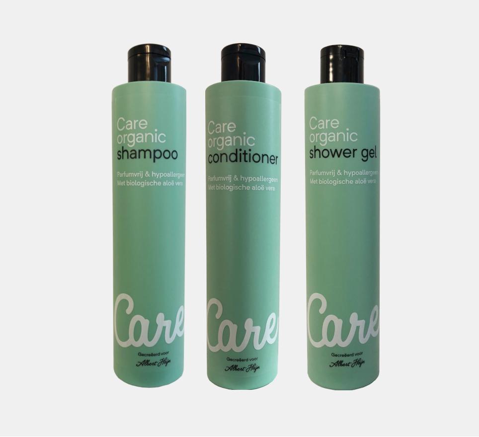 Organic care shampoo, conditioner og shower gel.png