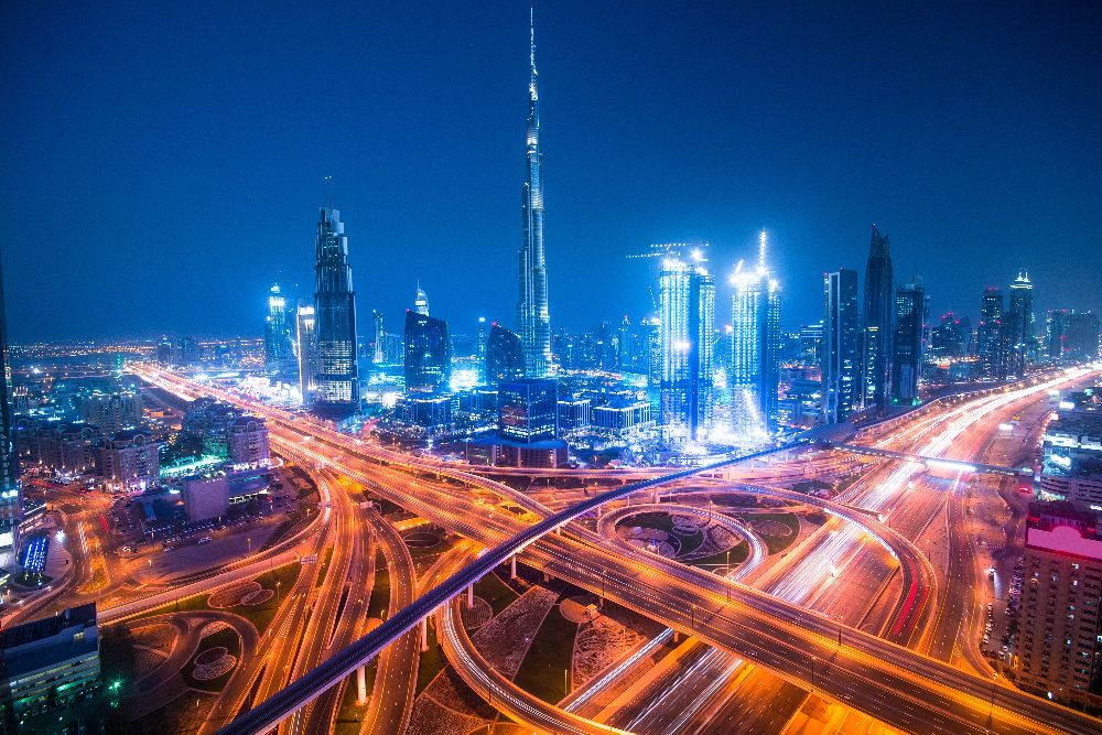 Dubai traffic and skyline.jpg