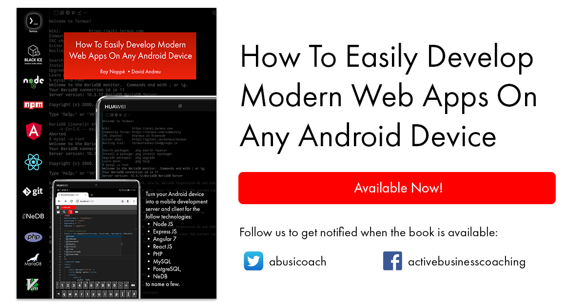 How To Easily Develop Web Apps On Any Android Device — Business