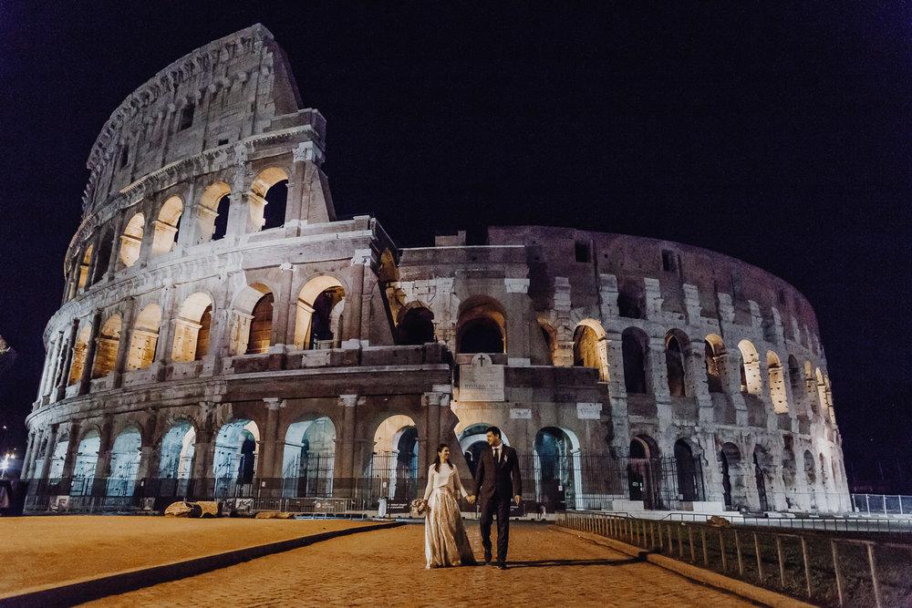 Rome by night Slovak wedding