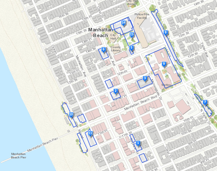 Downtown Manhattan Beach Parking Map