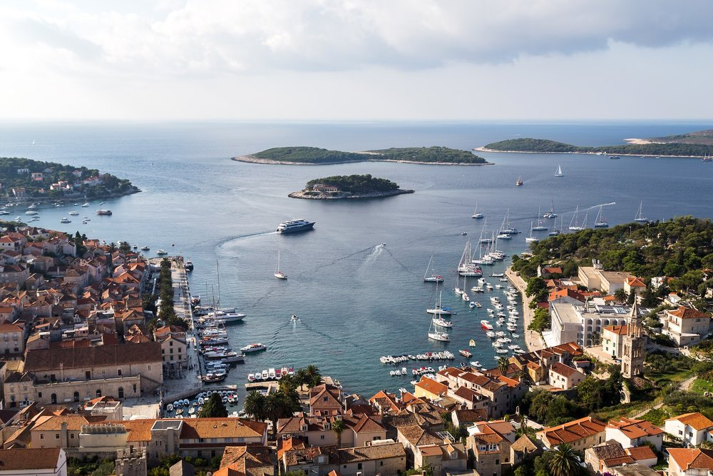 VIEW OF THE PAKLENI ISLANDS AND HVAR TOWN