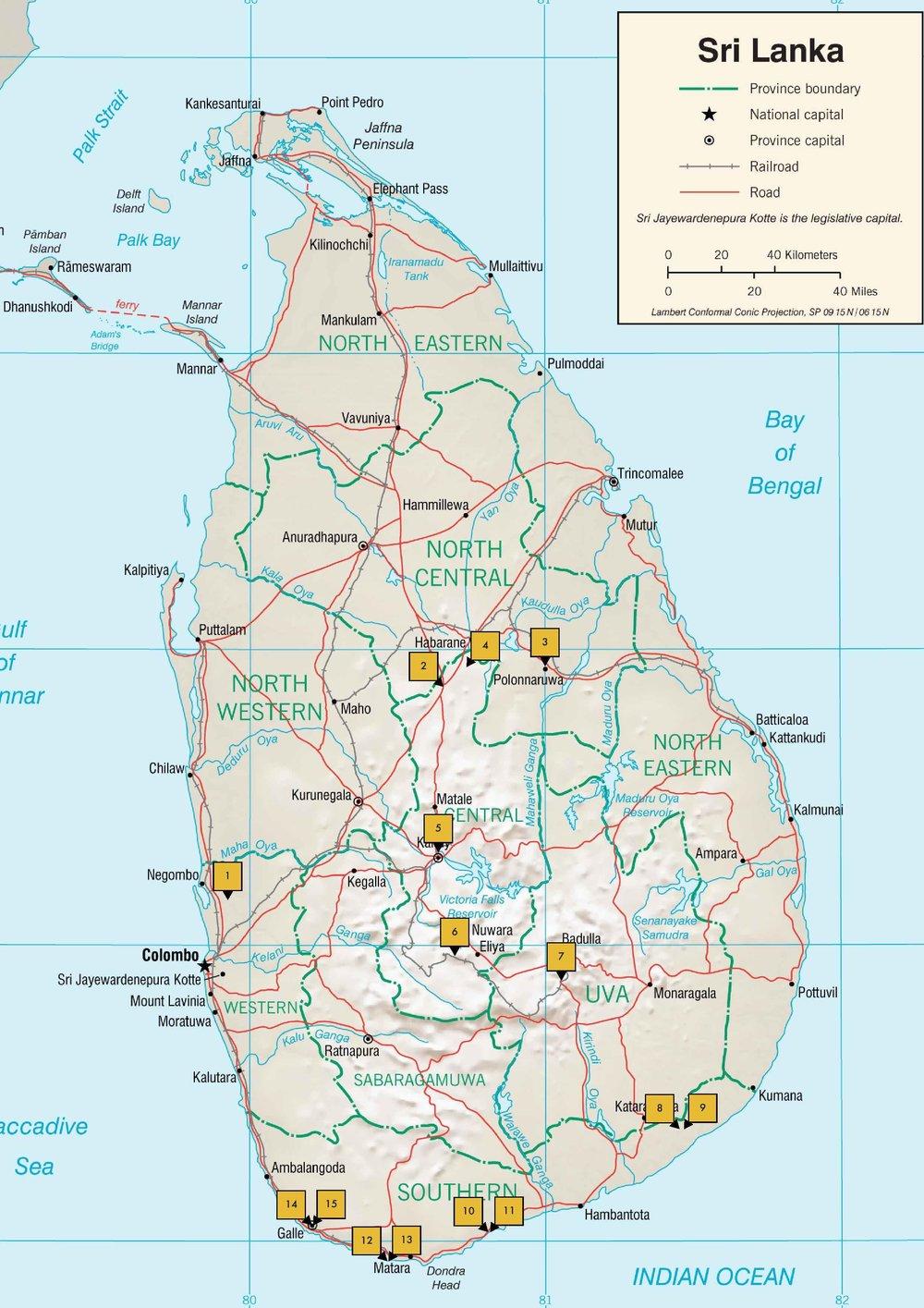 THE BIG TRIP: SRI LANKA MAP