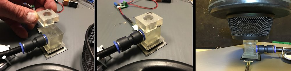 Test masses for calibration, nozzle v6. Greatly improved stability & repeatability.
