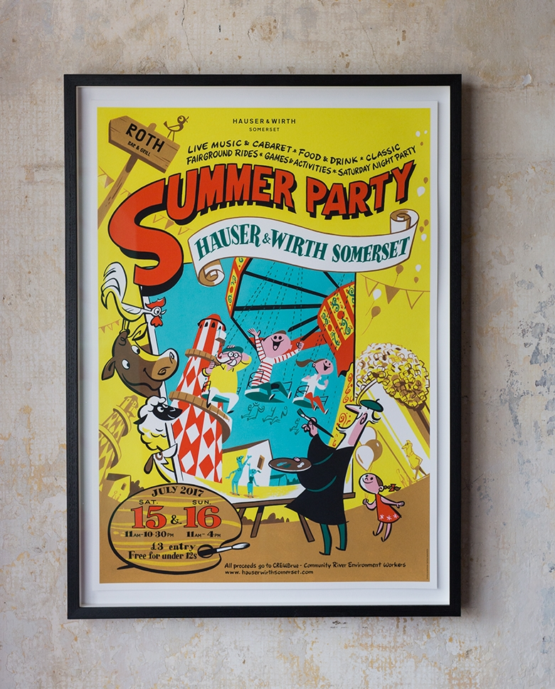 Summer Party poster in the kitchen