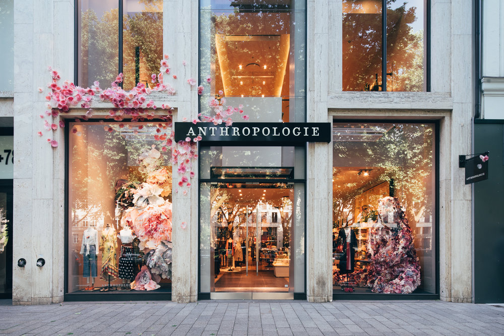 Anthropologie opened their Düsseldorf store in May 2018