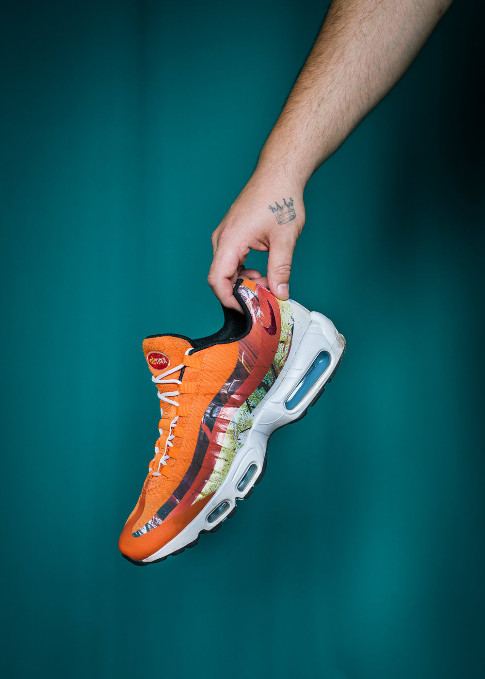 His Nike Air Max 95 collaboration between Size? and British artist Dave White