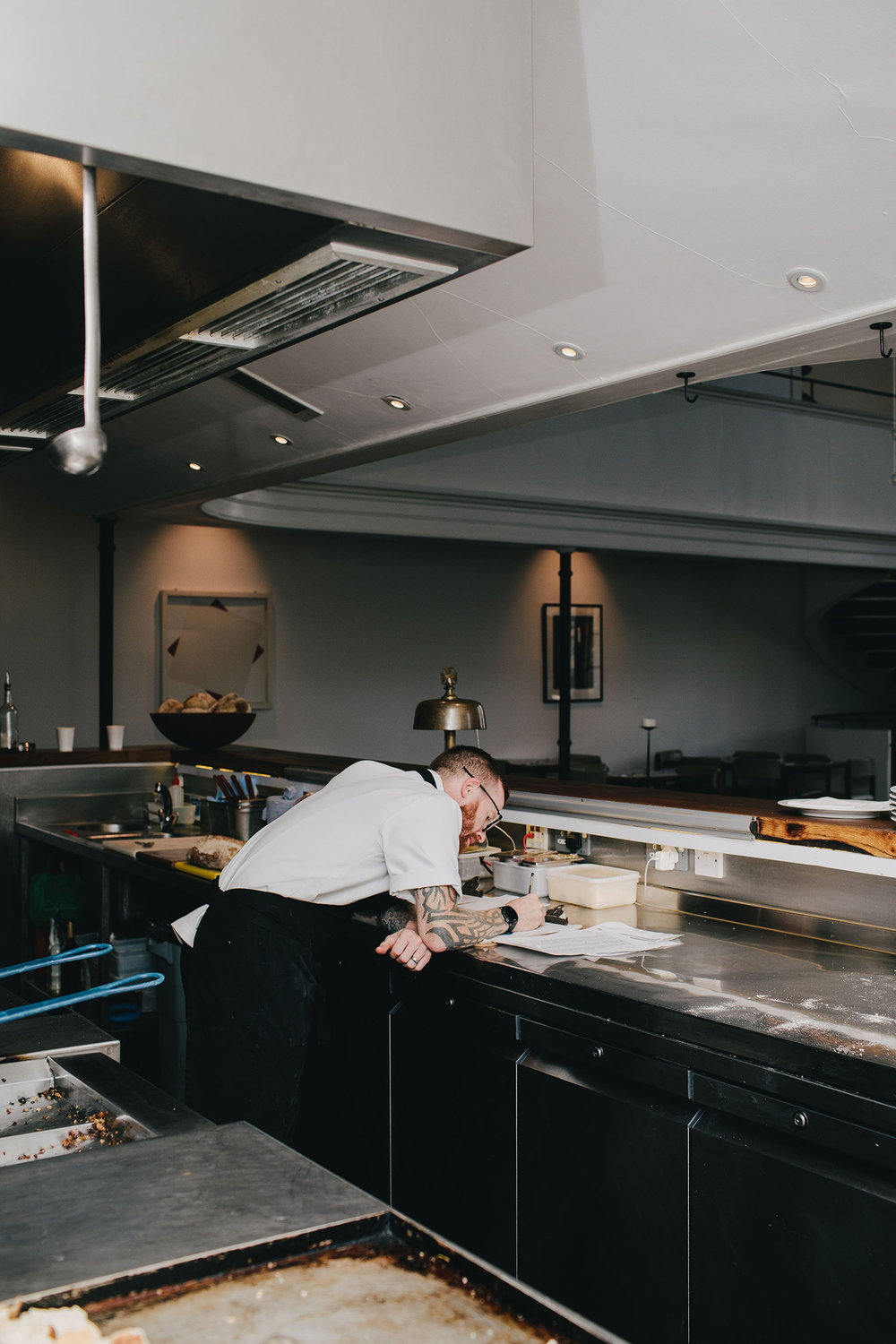 Head chef Daniel Starnes at work in his kitchen