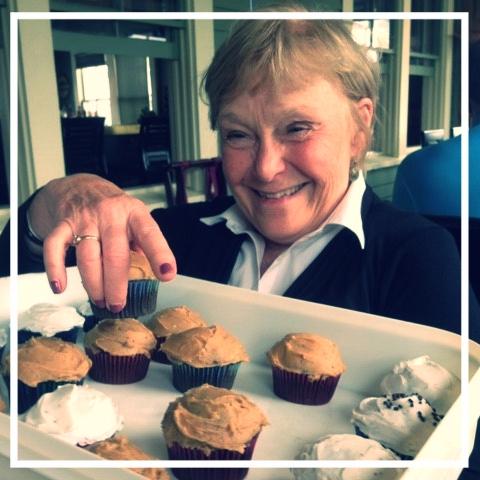 Lisa Tilton made her famous cupcakes!