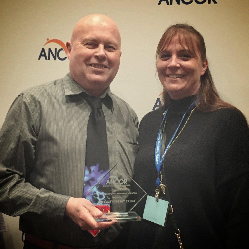 For the second year in a row, we were proud to have one of our DSPs win the Vermont DSP of the year from  ANCOR . Pete Cook received his award in April in New Orleans.