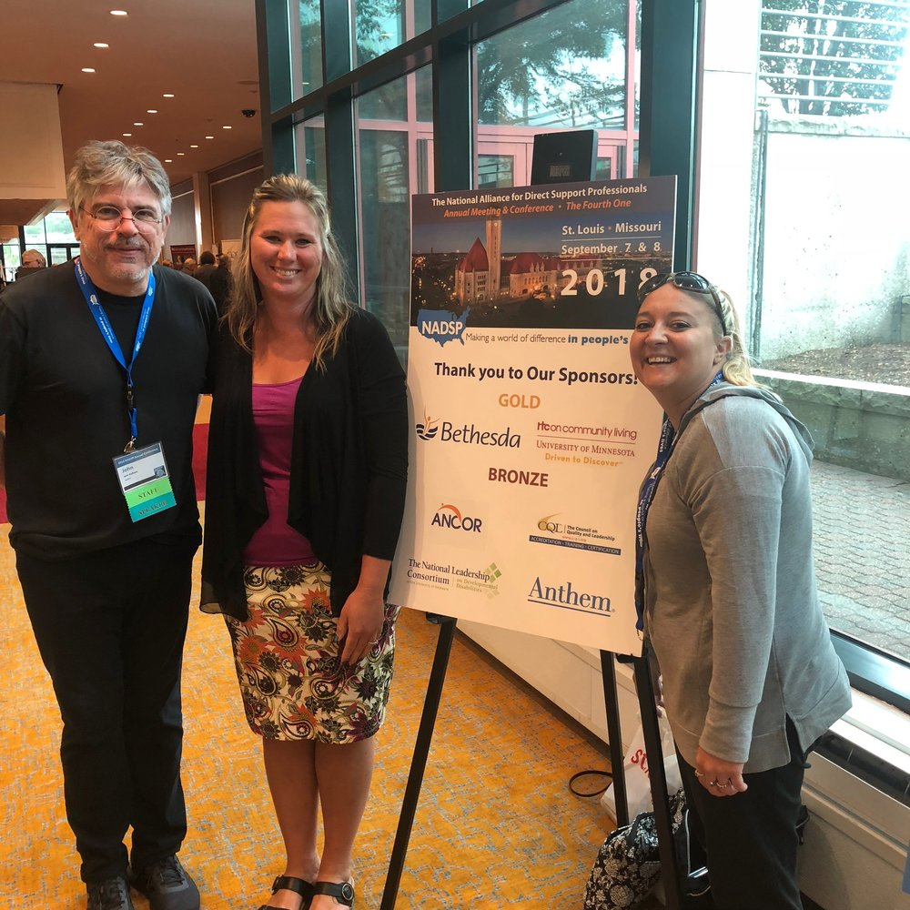 In September two of our DSPs, Liza and Lindsay attended the 2018  NADSP  conference in St. Louis, Missouri