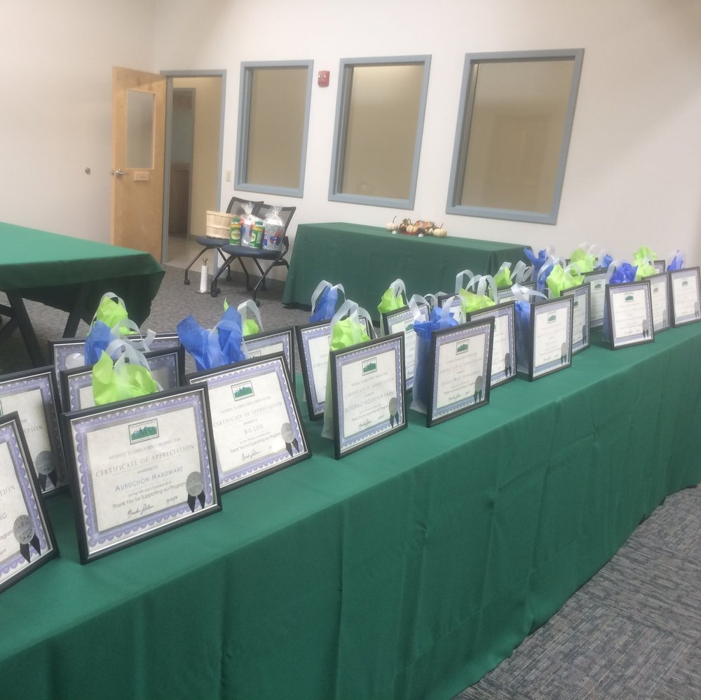 In October we honored all of the businesses who work with our Supported Employment department.