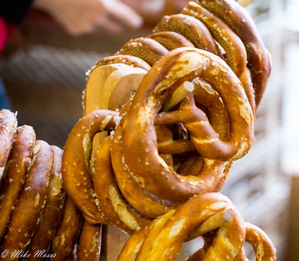 Farmers market pretzels