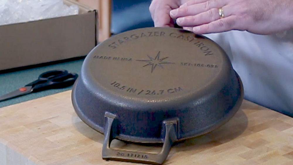 My stargazer premium cast iron frying pan.