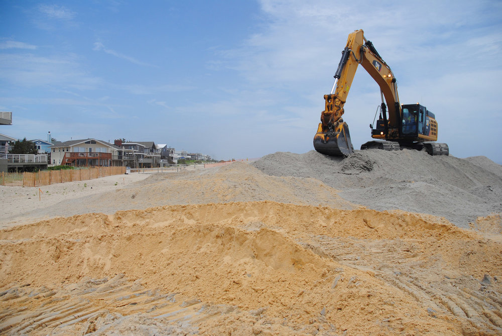 Coastal storm risk reduction project on Long Beach Island. Courtesy U.S. Army Corps of Engineers
