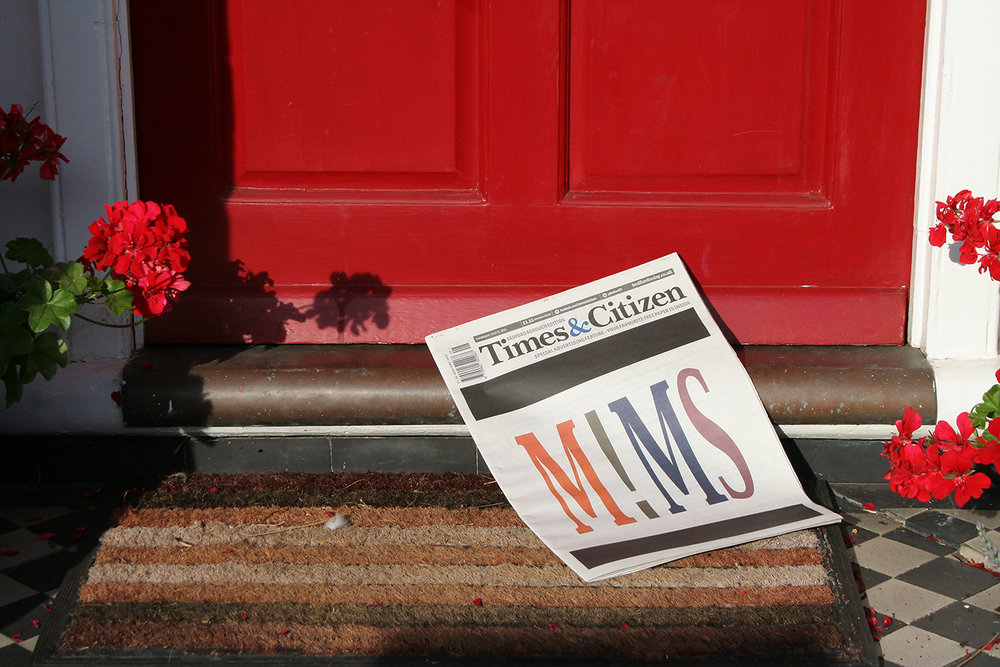MIMS on the Cover of the Times and Citizen (doorset and flowers) .jpg