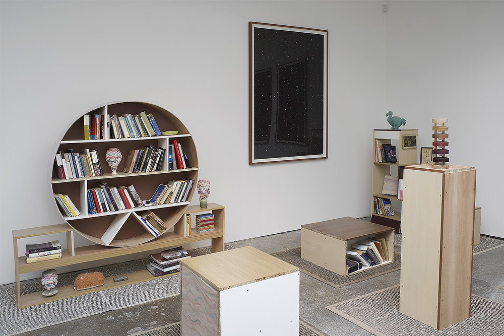 Andy Holden, Dan Cox Library for the Unfinished concept of Thingly Time, Cubitt, 2012.jpg