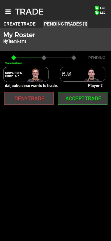 Trade received