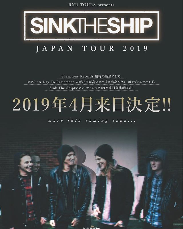 Blown away to be able to announce that we'll perform in Japan for the first time, spring 2019 🇯🇵🙏🏻 #persevere #sharptonerecords #concert #shows