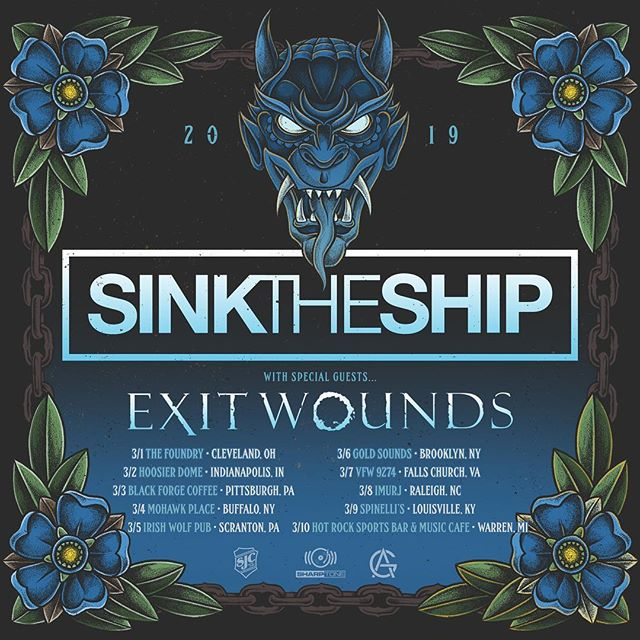 Excited to announce this run with our guys in @exitwoundsband  Let's get it 👊🏻