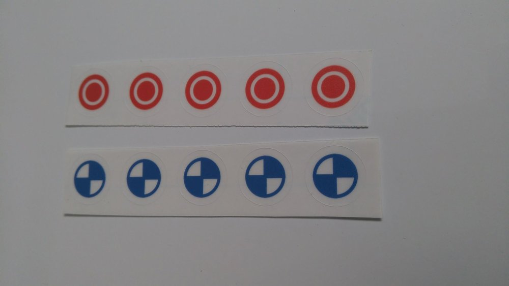 Centre of Gravity/pressure stickers - By Jo Hinchliffe