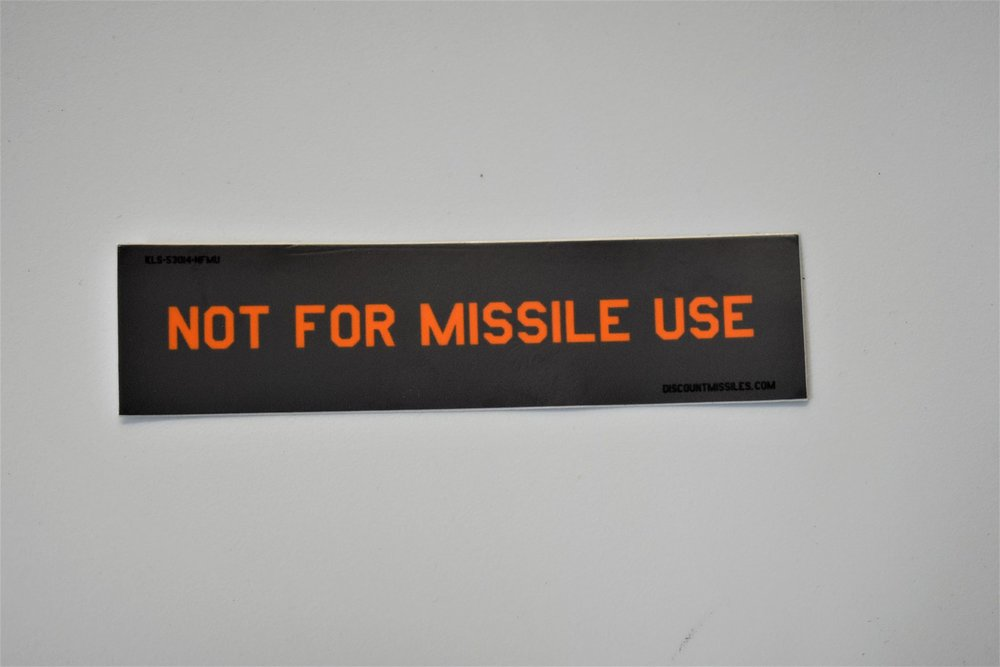 Not for Missile use stickers - By Arsenio Dev