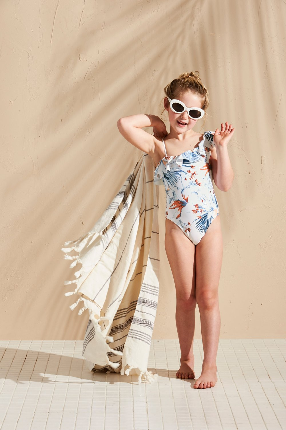 Little L* Beach Day One-Piece, $88,  lspace.com