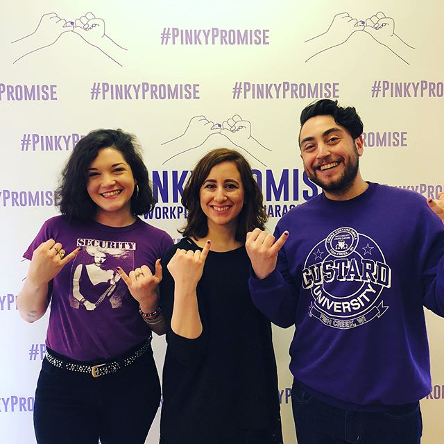 Yesterday you raised your pinkies and made your voices heard to support ending workplace sexual harassment. But there is still work to be done—sign the pledge at www.pinkypromisepledge.com, share this post, and advocate for change in your workplace. - - - - #metoo #timesup #timeisup #internationalwomensday #womensday #weareunstoppable #whywewearblack #sexualassault #womensmarch #resist #nastywoman #nastywomen #womeninpower #yearofthewoman #womenempowerment #womensmovement #yesallwomen #womenunite #nomeansno #stoprapeculture #feminists #no