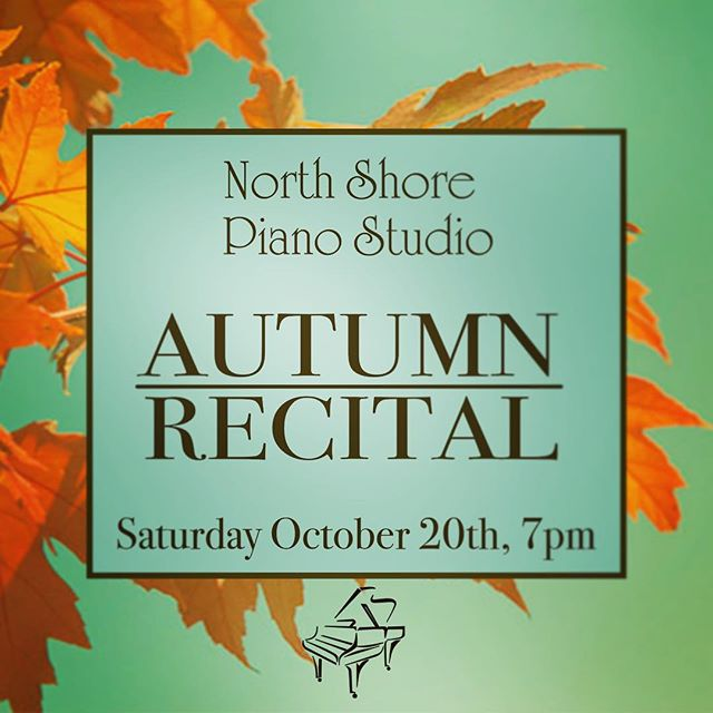 Excited to be having our first recital this Saturday evening at the studio!