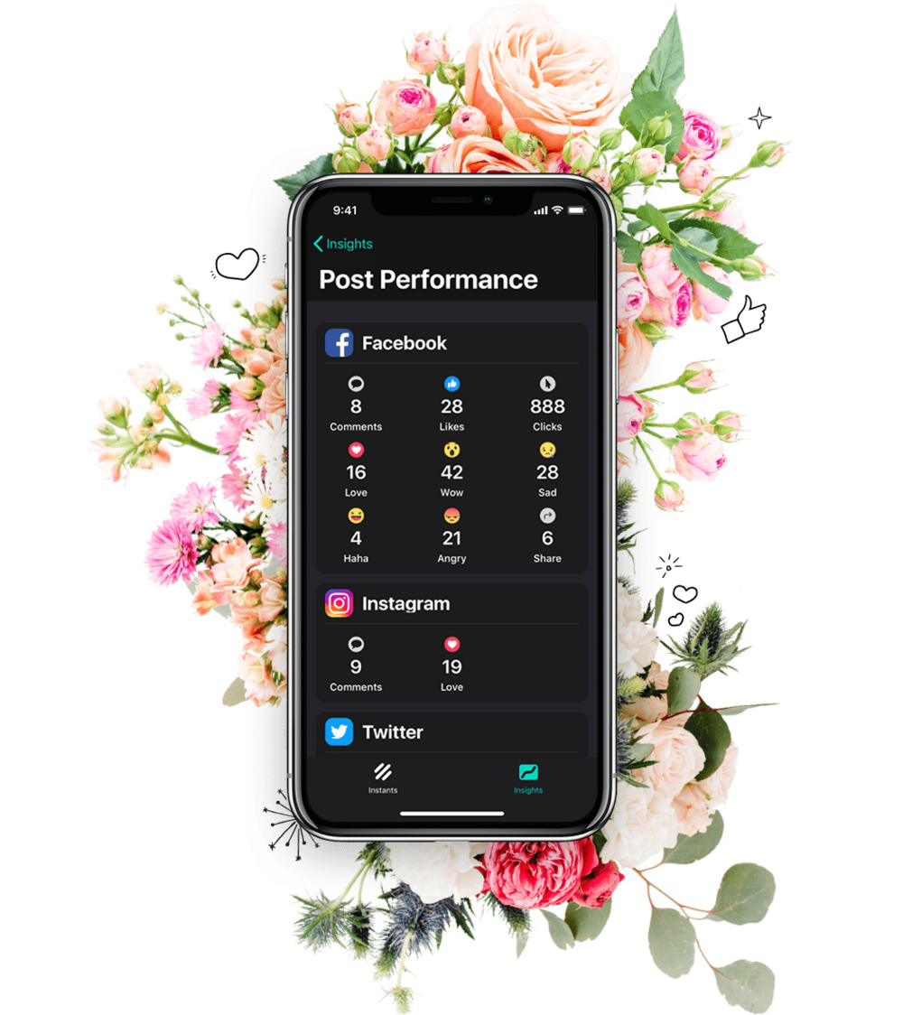 Feel the likes - See how your posts are performing. View all your social media analytics together on a single dashboard.Download a free social media plan