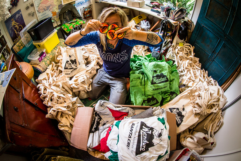 Anka Martin fills the riders bags with surprises.