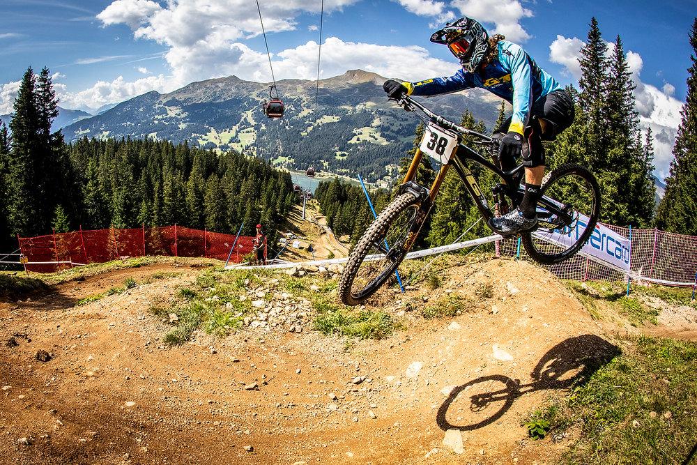 During the 2018 UCI MTB World Championships, Lenzerheide, Switzerland.
