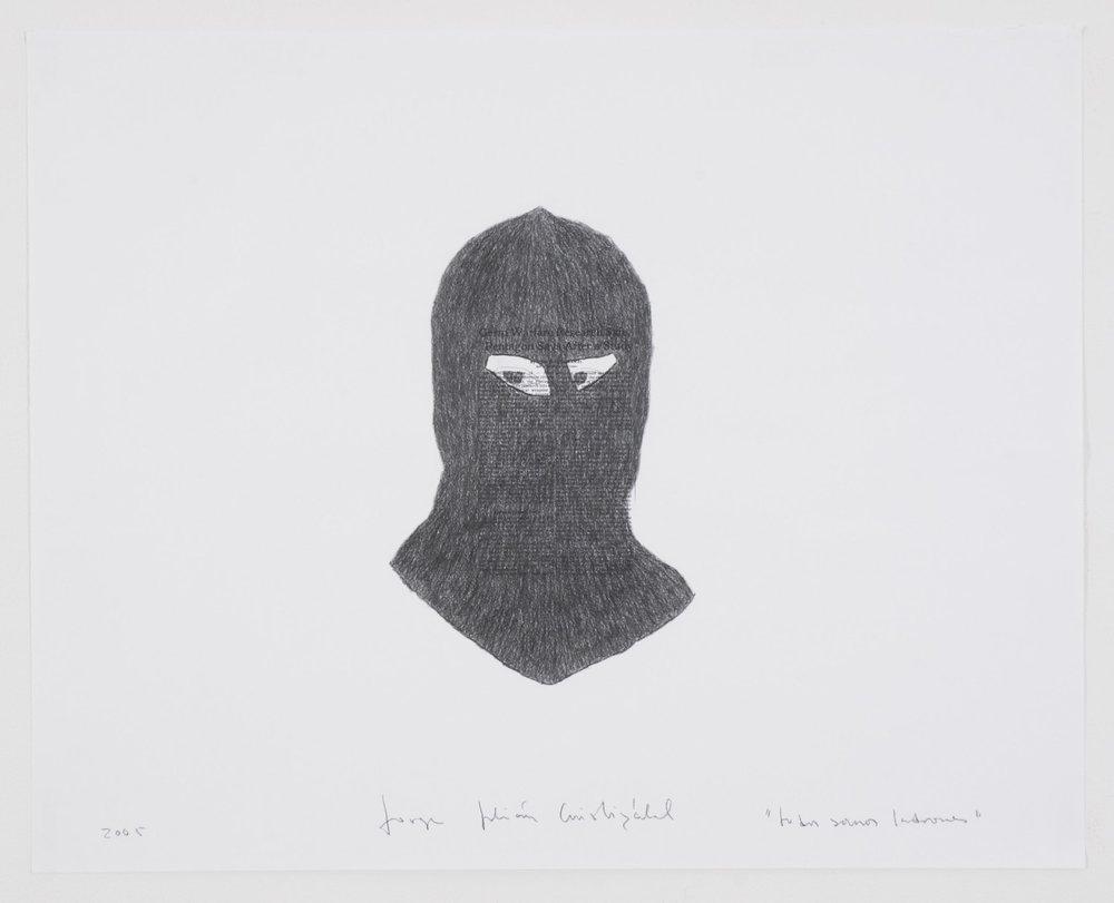 Todos Somos Ladrones   Grafito sobre obras de Felix Gonzalez Torres y Bruce Naumann. Tamaños variables.2005