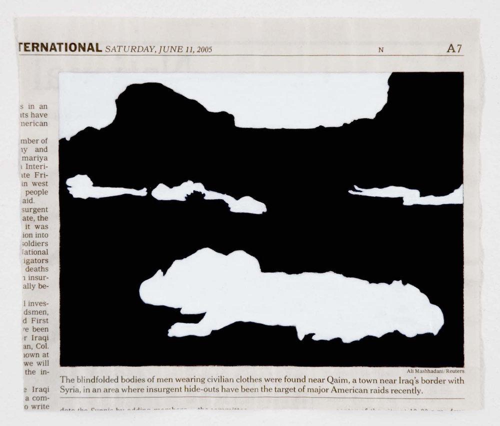 Acrílico sobre papel periódico. Dimensiones variables. 1997-2007